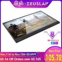 Pantalla de borde estrecho ultrafina de 15,6 pulgadas 1080p ips ps3 ps4 switch gaming monitor portátil hdr