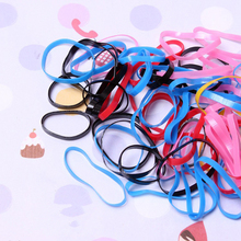 200Pcs/lot New Fashion Hair Rubber Bands For Women Colorful Disposable High Elastic Hairband Girls Quality Hairbands Kid
