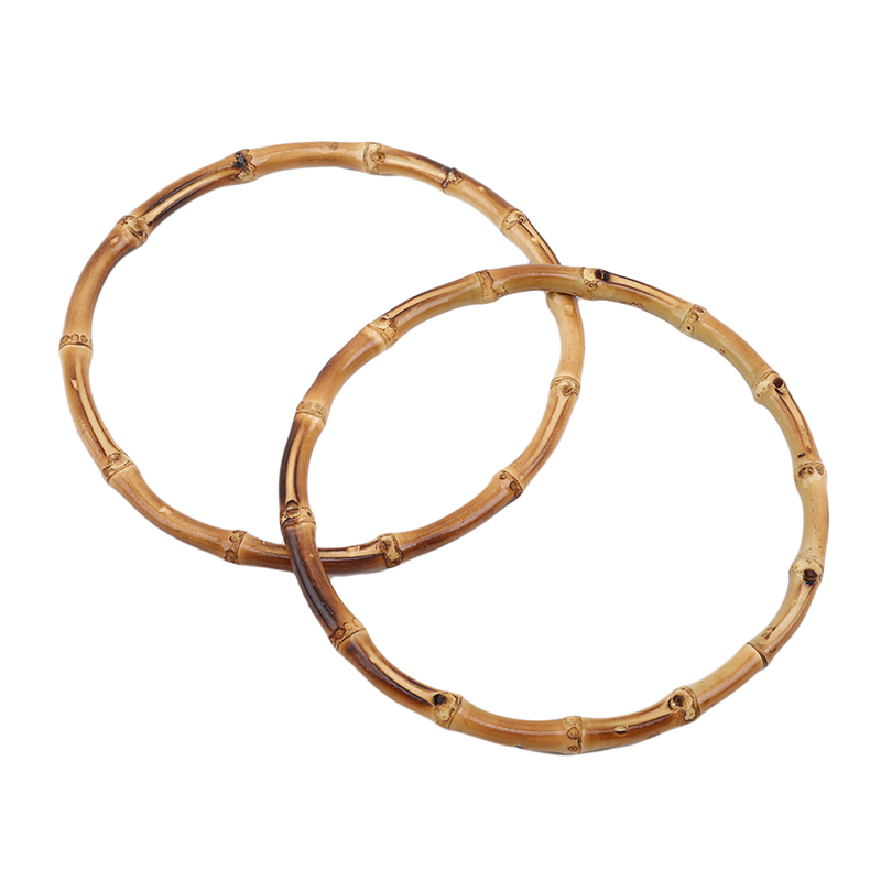 2pcs/lot Round Bamboo Bag Handle For Handcrafted Handbag DIY Bags Accessories High Quality