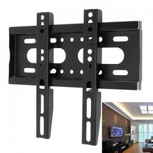 أسود أحدث رف لتثبيت التليفزيون على الحائط نوع ثابت إطار شاشة تلفزيون مسطحة ل 14 42 مؤشر LED LCD بالبوصة شاشة مسطحة عالية الجودة