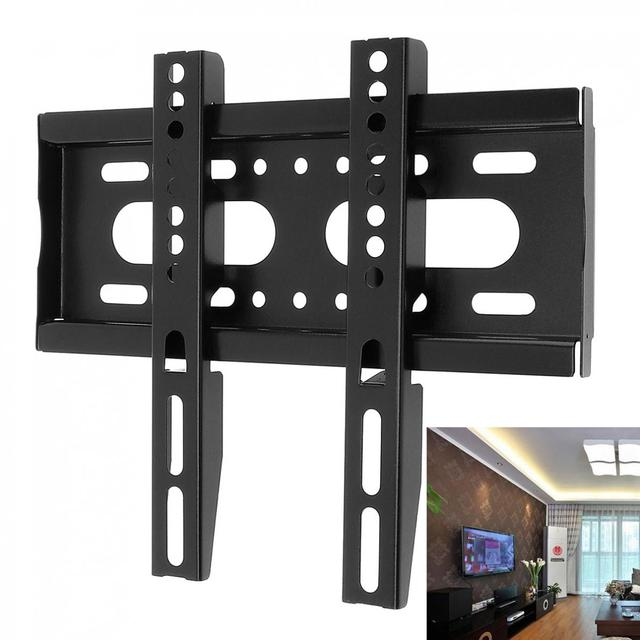 Black Newest TV Wall Mount Bracket Fixed Type Flat Panel TV Frame for 14 42 Inch LCD LED Monitor Flat Panel High Quality