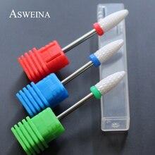 ASWEINA,, 1 шт., высокое качество, Пламенный керамический сверло для ногтей, вращающийся заусенец для электрического маникюра, дрель, инструменты для дизайна ногтей, маникюрный салон
