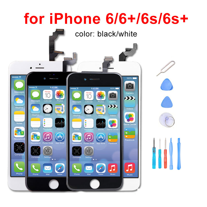 AAA + LCD For iphone 6 6Plus 6S Plus LCD Assembly Complete With 3D Touch Screen Replacement display for iphone 6S LCD Camera image