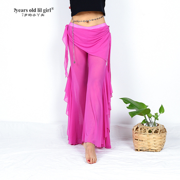 Belly Dance Pants Transparent thin Tribal Flare With Mini skirt  Fusion Clothes