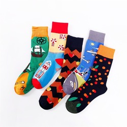 20 Pairs/set College Styles Mens and Womens Cotton Socks Korean Version Sock Manufacturers Wholesale Socks Cute