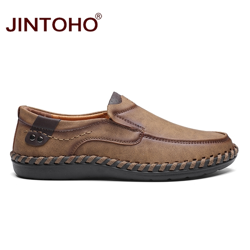 JINTOHO Fashion Brand Men Shoes Men Genuine Leather Shoes Casual Men Shoes Male Leather Shoes Slip On Men Loafers 5
