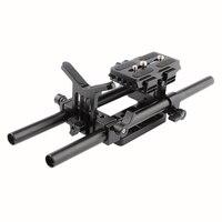 HDRIG Universal Pro DSLR Shoulder Mount Support Rig With Manfrotto Quick Release Plate Lens Support Bracket for Camera Shoulder