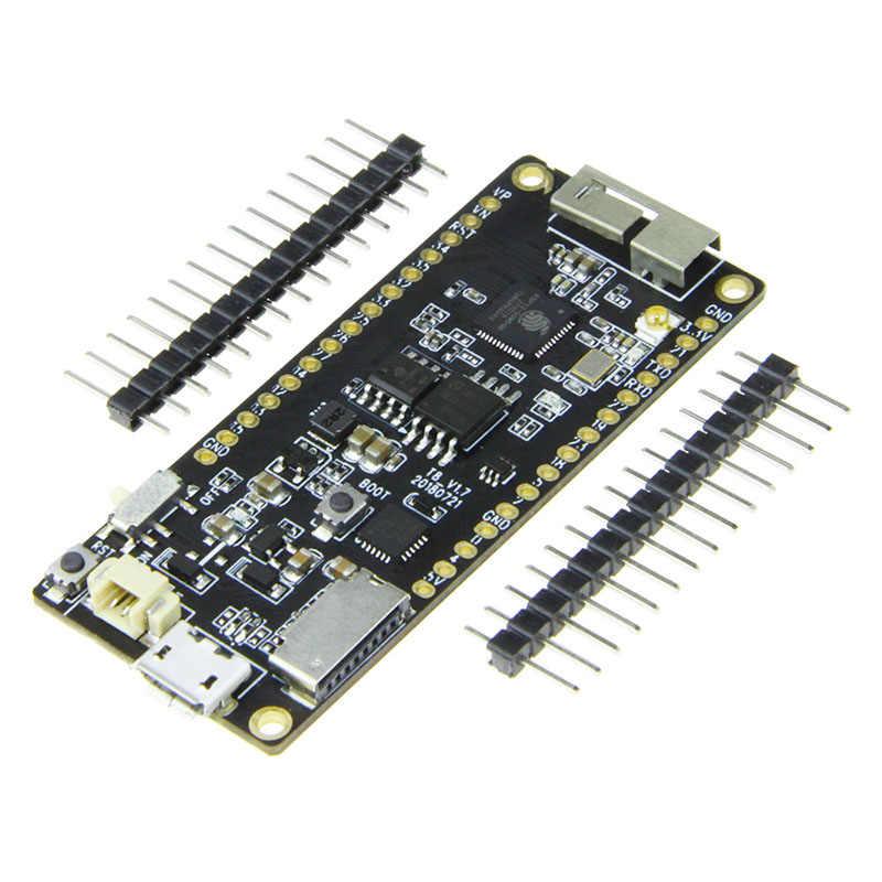 Ttgo t8 v1.7 esp32 wifi módulo bluetooth 4 mb placa de desenvolvimento micropython cartão tf psram du55