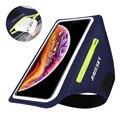 HAISSKY спортивные нарукавники для бега, чехол для iPhone 11 Pro Max 7 SE 2020 Xiaomi, нескользящий ремень на руку, нарукавник для телефона, сумка для AirPods Pro