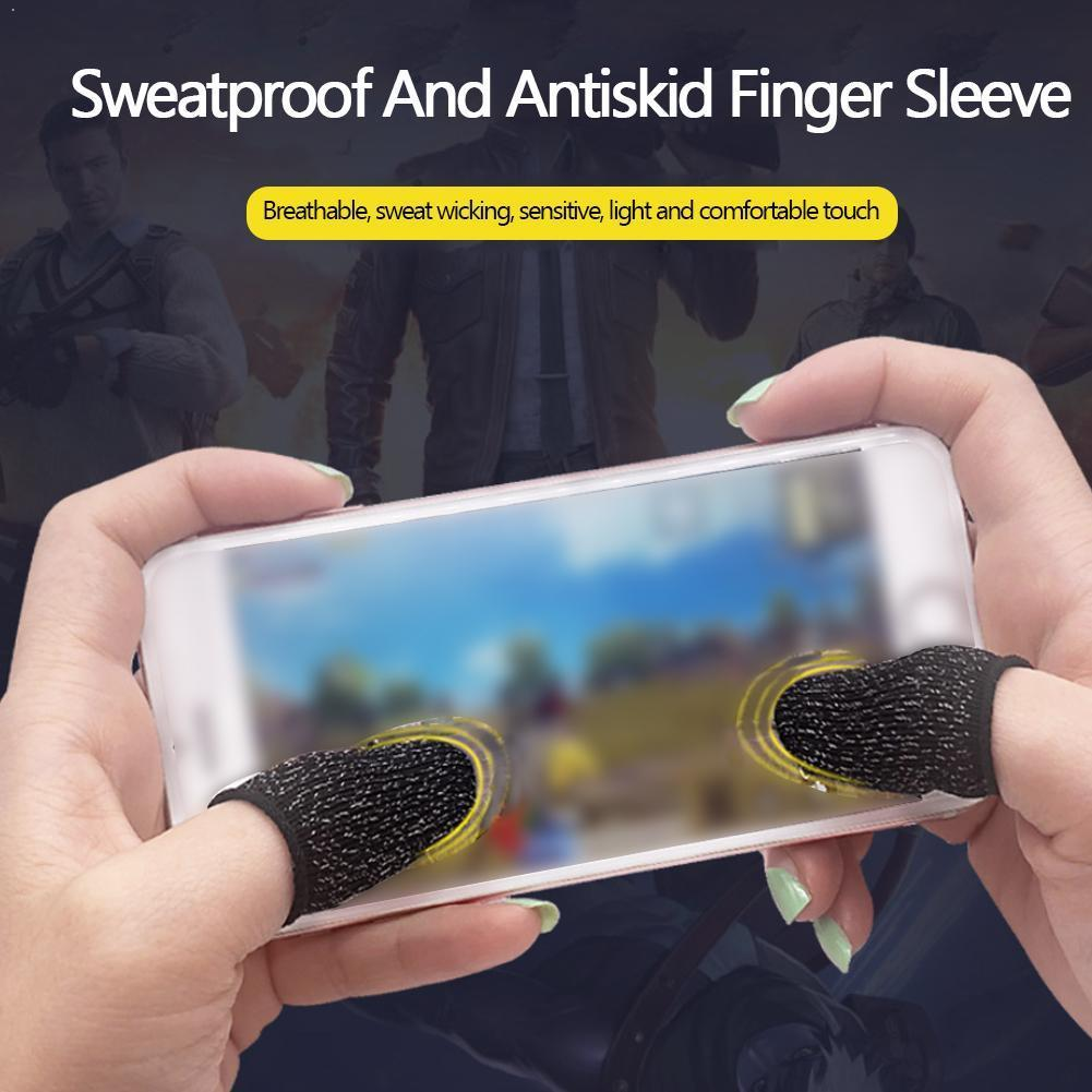 1Pair Finger Cots For PUBG Stall Sensitive Game Controller Sweatproof Sleeve Screen Samsung For IPhone Breathable Finger T9Q7