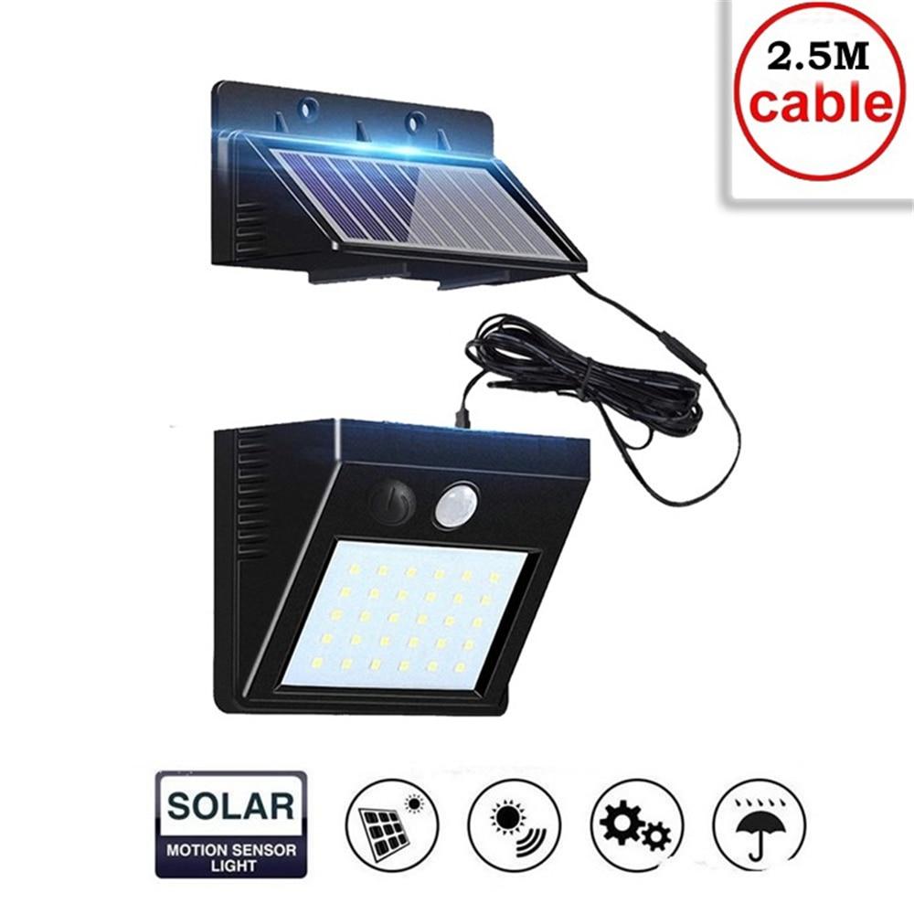 30 LED Solar Lights Outdoor Solar Lamp RIP Motion Sensor Rechargeable Solar Light Bulb Lamps IP65 Waterproof Wall Street Lights