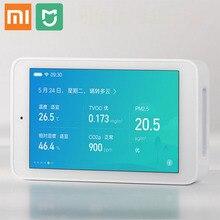 Xiaomi Mijia hava dedektörü PM2.5 yüksek hassasiyetli 3.97 inç USB arayüzü dokunmatik ekran nem sensörü hava monitör test cihazı Mihome