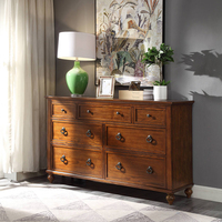 Luxury 7 drawer chest for bedroom original wood color store cabinet WA614