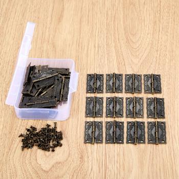 30 sztuk biżuteria drewniane pudełka dekoracyjne zawias 36*23mm drzwi do szafki zawias meblowy + śruby + schowek okucia meblowe tanie i dobre opinie CN (pochodzenie) Maszyny do obróbki drewna NONE Nice decorative hinges iron approx 36*23mm 1 42*0 91inch other approx 9 4*6 9*3cm 3 70*2 72*1 18inch