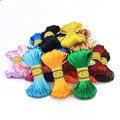 Шнур для украшений «сделай сам», атласный плетеный провод с узлом в китайском стиле, 20 м, 2 мм, 25 цветов, для изготовления ювелирных изделий, б...