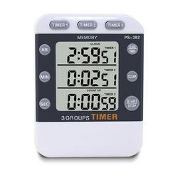 Cyfrowa kuchenna czasomierz kuchenny zegar  3 kanały jednoczesne odliczanie czasu kieszonkowy zegar  duży wyświetlacz ledowy  głośny alarm  Mem|Minutniki kuchenne|Dom i ogród -