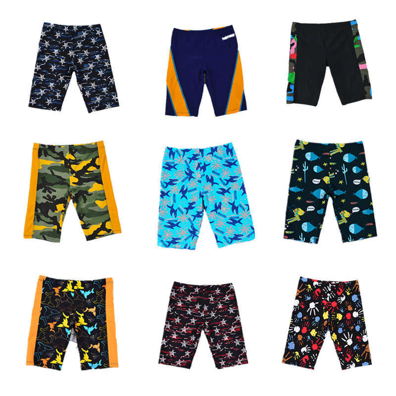 Foreign Trade Supply Of Goods New Style Bathing Suit Fashion Cute Cartoon Children BOY'S SHORT Mid-length Swimming Trunks