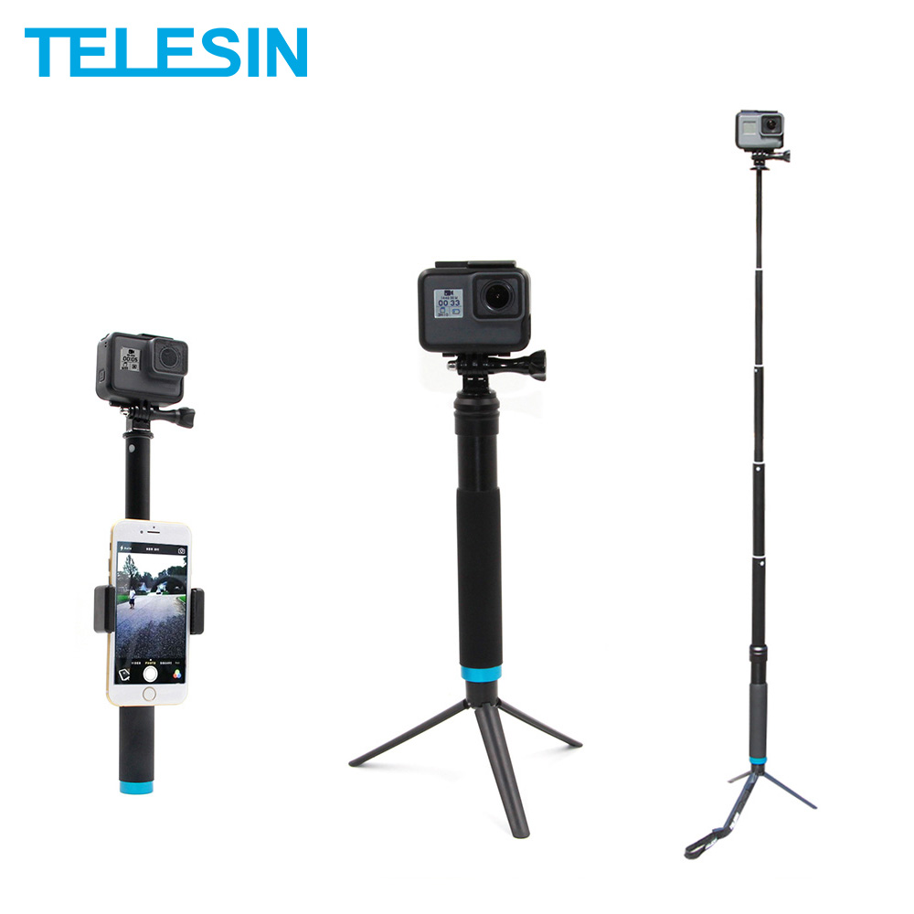 //3 //2 //1 Waterproof Aluminum Alloy Extendable Handheld Selfie Stick Monopod with Quick Release Base /& Long Screw /& Lanyard for DJI New Action 6 //5 //5 Session //4 Session //4 //3 GoPro NEW HERO //HERO7