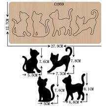新しい猫木製ダイスクラップブッキング C1959 切削ダイス
