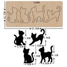 Nouvelles matrices en bois pour chats, Scrapbooking, nouvelles matrices de découpe, C1959