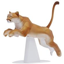 Craft-Toys Paper-Model Cougar Kids Puma Animal-Figure DIY 3D Adult Cute Mini QD-249 Cutting