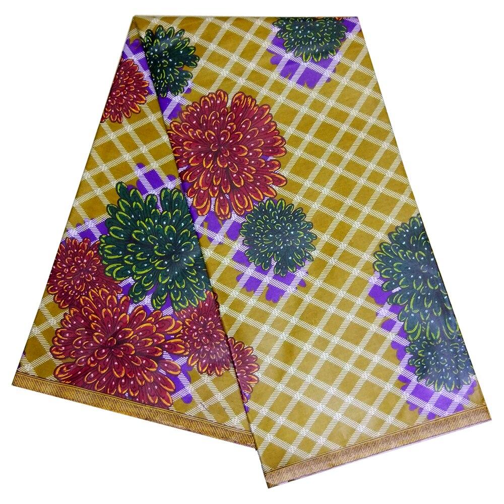 2019 New Design African Fabric Wax Prints African Ankara Wax Print Fabric 6 Yards