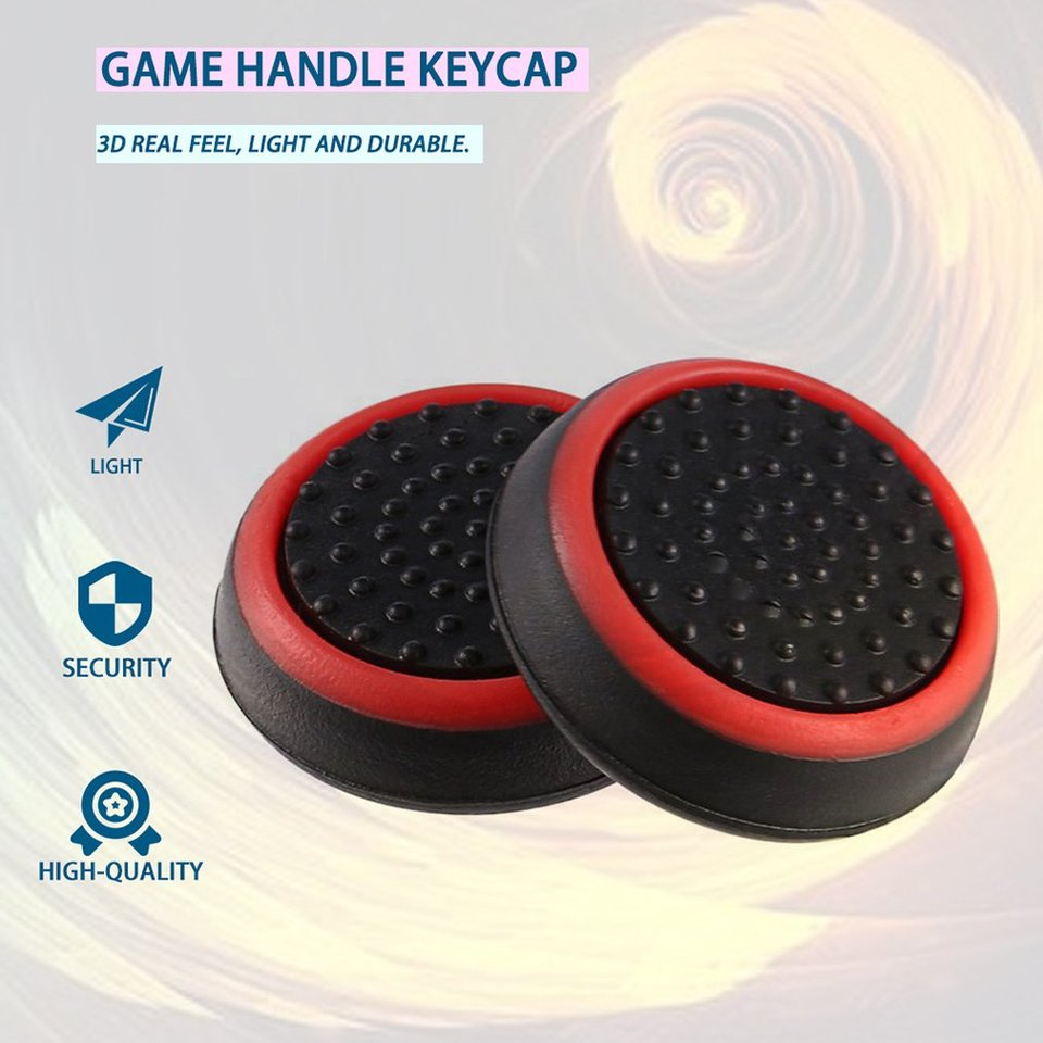 Detectorcatty 4pcs Silicone Anti-Slip Striped Gamepad Keycap Controller Thumb Grips Protective Cover for PS3//4 for X Box One//360