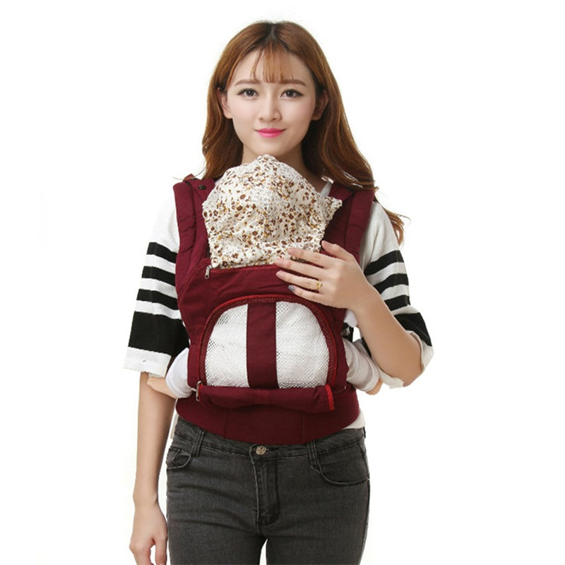 Multifunctional Baby Carrier Ergonomic Kids Sling Backpack Breathable Cotton Front Facing Carrier For 3 To 30 Months Infant