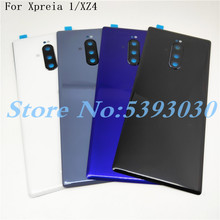 New Original For Sony Xperia 1 XZ4 J8110 J8170 J9110 Glass Back Battery Cover Rear Door back case Housing Case Repair Parts