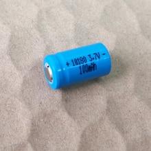 2-10 pcs 3.7 v 10180 미니 uc02 led 손전등 토치 및 스피커에 대 한 충전식 리튬 이온 배터리 icr10180 셀 100 mah