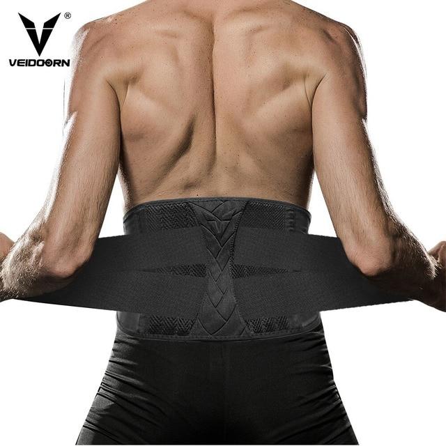 Veidoorn Waist Trimmer Trainer for Women Men Lower Back Lumbar Support Body Shaper Sweat Slimming Belt Corset Shapewear Gym