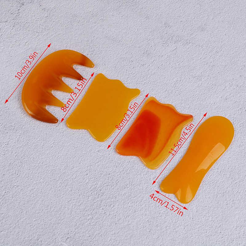 Skrobak Gua Sha deska żywica Acupoint pielęgnacja oczu SPA masaż masażer do twarzy akupunktura naturalny wosk pszczeli Guasha skrobanie masaż