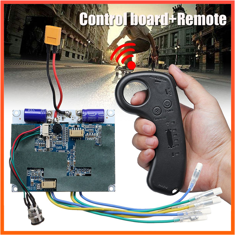 Electric Skateboard Controller 36V Double Motor Drive System Longboard Remote Controller ESC Hub Motor Skateboard Accessories
