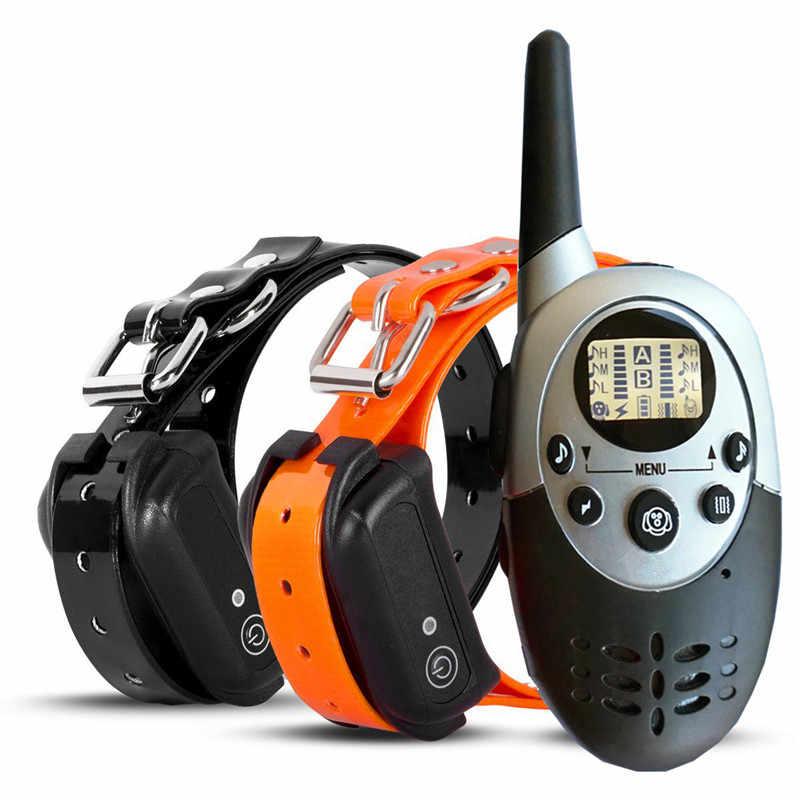 Eletrônico cão instrutor automático zhi fei qi pet trainer controle remoto choque elétrico vibração aviso 998dr colar do animal de estimação
