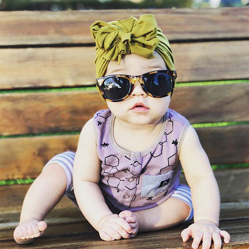 Popular 16 Colors Newborn Baby Boy And Girl Hat Turban Kids Winter Cotton Knotted Bow Cap Toddler Children's Headwear 2019