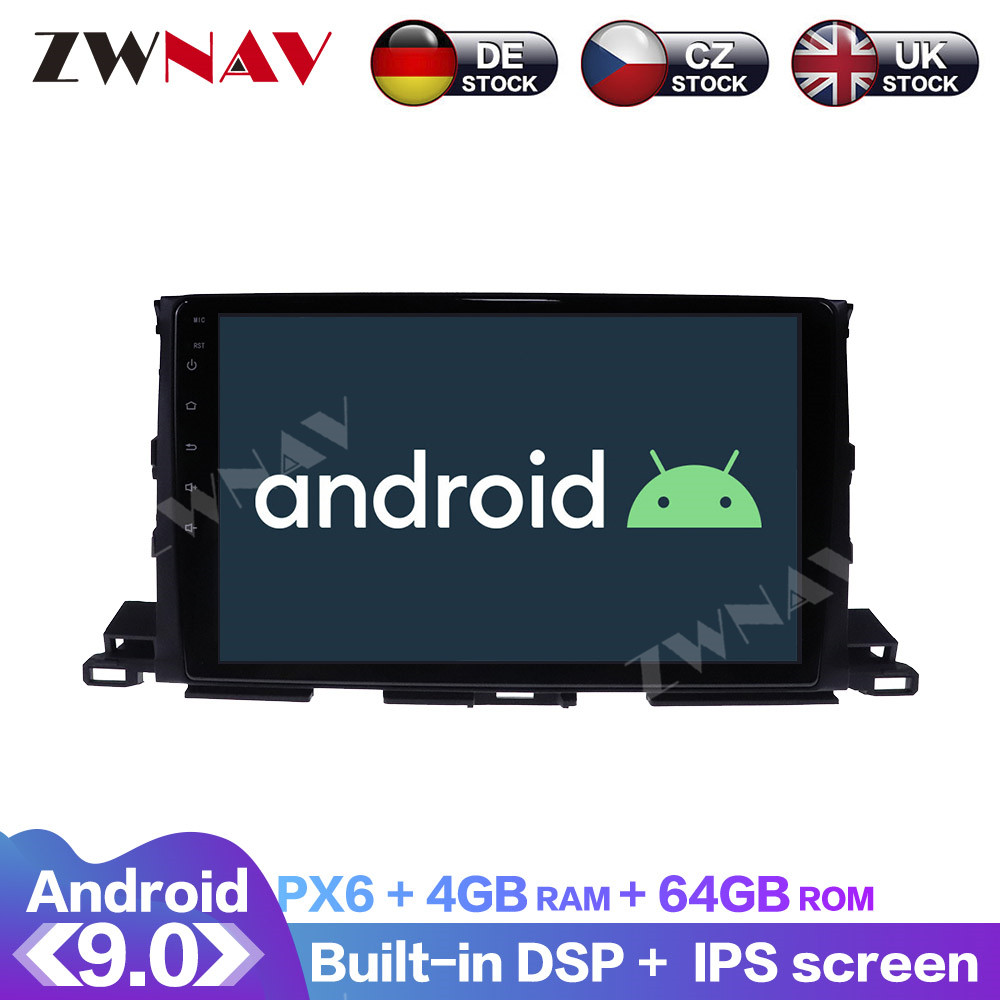 Android 9 With DSP Carplay IPS Screen For Toyota Highlander 2013 2014 2015 - 2018 Car <font><b>GPS</b></font> <font><b>Navigation</b></font> Radio DVD Player Multimedia image