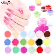 Monja 18 Colors/Set Nail Art Dipping Powder Kit Mirror Chrom