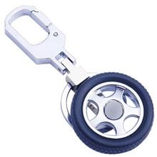 Rotatable Key Chain Tyre Pendant Car Key Ring Individual Car key Chain Creative Motorcycle Keychain jobon zhongguang lighting duoquan mini car model key ring автомобиль key chain ring chain pendant zb 156a blue ice креативный подарок на день рождения
