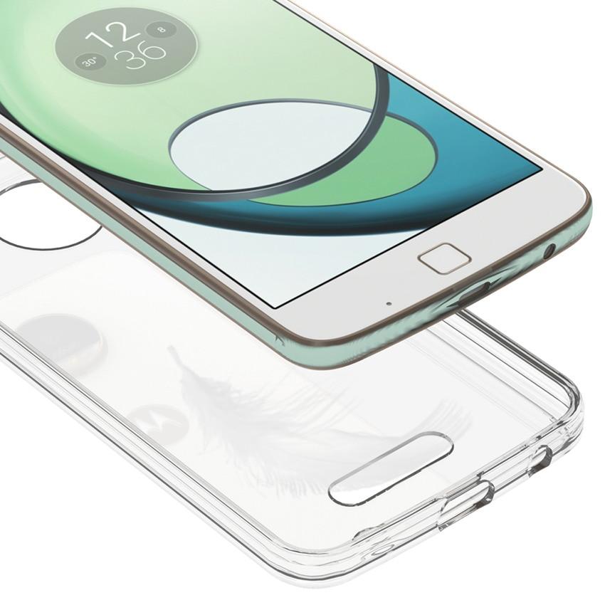 Motorola Moto Z Play Fundas Coque üçün nazik hibrid şoka davamlı - Cib telefonu aksesuarları və hissələri - Fotoqrafiya 4