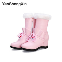 YANSHENGXIN Shoes Woman Boots Rhinestone Princess Women Boots Autumn Winter Boots Internal increase Shoes Ladies Booties