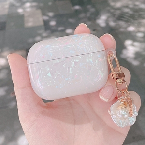Image 5 - AirPods 2 luxury Pearl conch shell For AirPods PRO 3 cute case Keychain Pendant silicone Earphone Case Air Pods Fundas
