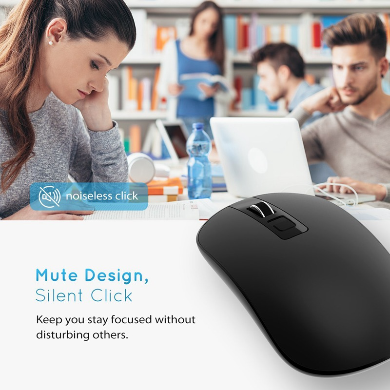 VicTsing Wireless Mouse 1600DPI 2.4G USB Wireless Mice Optical PC Laptop Computer Mouse with Nano Receiver for Windows Mac Linux image