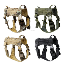 Military Tactical Dog Vest Hunting Dog Harness Police Training Smalle Medium Large Service Dogs Clothes