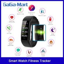 Neue Smart Uhr Fitness Tracker Körper Temperatur Armband Uhr Herz Rate Blut Sauerstoff Druck IP67 Wasserdichte Smart Armband