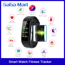 New Smart Watch Fitness Tracker Body Temperature Bracelet Watch Heart Rate Blood Oxygen Pressure IP67 Waterproof Smart Bracelet
