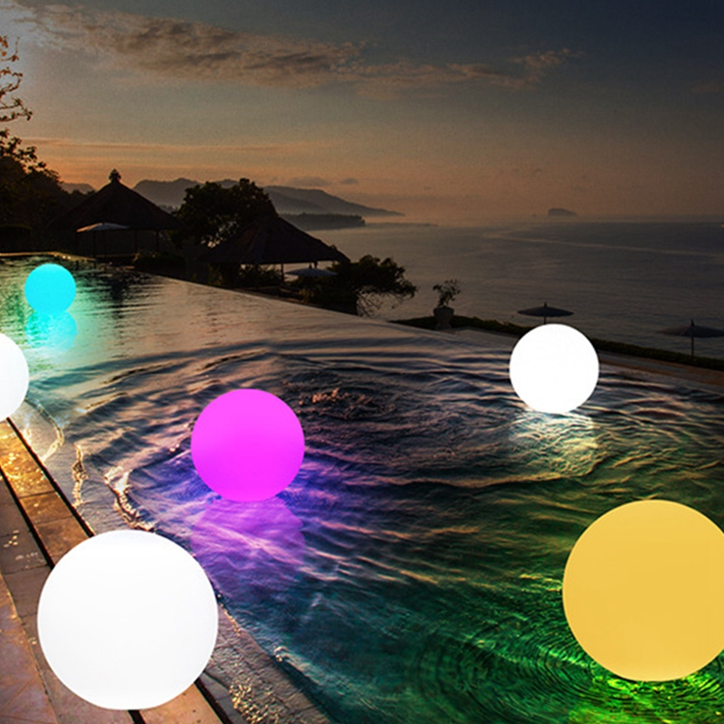 BEAU-Colorful Outdoor Garden Glowing Ball Lights With Remote Patio Landscape Pathway LED Illuminated Ball Table Lawn Lamps