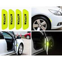 4x флуоресцентный зеленый двери автомобиля Открытая наклейка