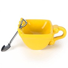 2019 New 280mL Excavator Creative Spoon Mug Bucket Model Ceramics Cigar Whiskey Ashtray Coffee Tea Cup  Best Gift