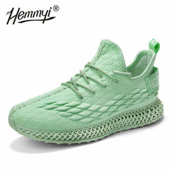 2019 High quality women sneakers 4D soles flyknit mesh breathable outdoor casual shoes woman solid white pink green - DISCOUNT ITEM  40% OFF All Category
