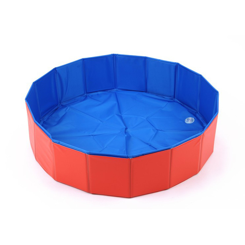 Foldable Dog Pool Pet Bath Inflatable Swimming Tub Collapsible Bathing Pool For Dogs Cats Portable Durable PVC Composite Cloth